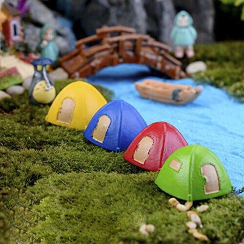 Set-of-4Color-Miniature-Dome-Tent-Yurt-Micro- & Set of 4Color Miniature Dome Tent Yurt Micro Landscape Craft DIY Decor