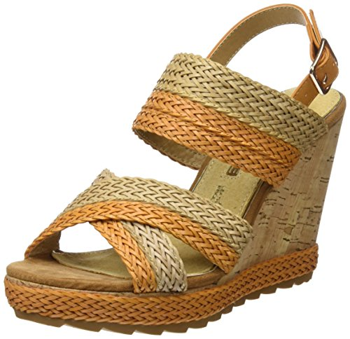 Maria Mare 66794 Women US 7 Tan Wedge Sandal rVrfOC5