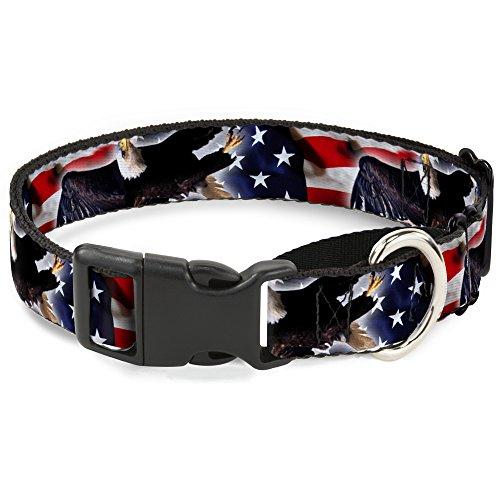 Buckle Down Flying Eagle/American Flag Martingale Dog Collar, 1
