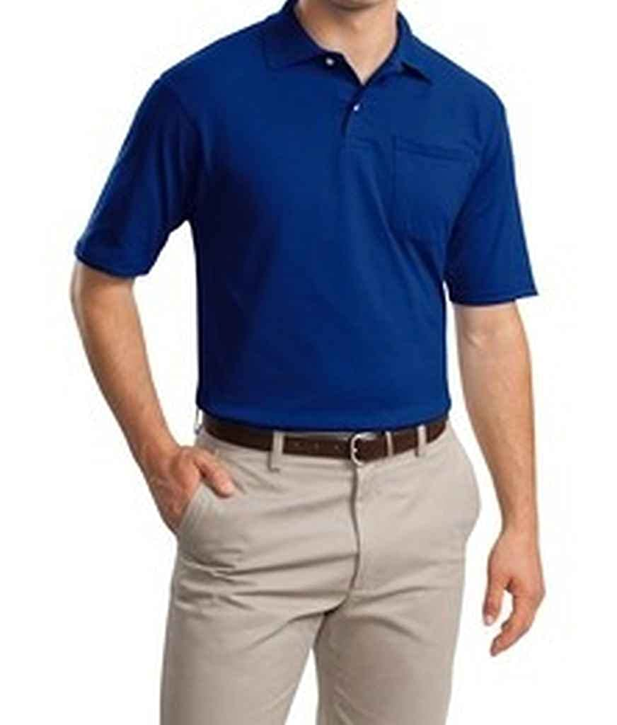 Jerzees Mens Clean Finished Pocket Polo Sport Jersey