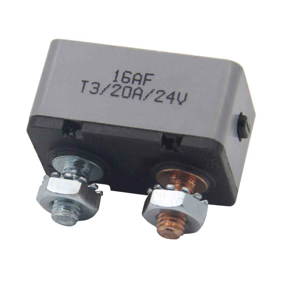 RKURCK 12-24V 50 Amp ATV Manual Resettable Circuit Breaker Metal Stud Bolt Fuse holder 50A