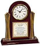 Sympathy and Funeral Gift Poetry Clock for Remembrance of a Loss of a Love One someone who is Grieving Cherry with Gold Accents Desk Clock Poem