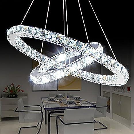 Saint Mossi Moderna lámpara de techo de cristal circular Led ...