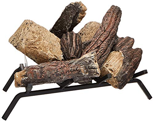 Glow Oak Log - Sure Heat BRO18NG Sure Heat Burnt River Oak Vented Gas Log Set, 18-Inch, Natural Gas