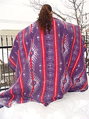 "Two Recycled Alpaca Wool Blend Fiber Blanket 66""x94"" Eco Friendly Sustainable Warm Assortment *000269*"