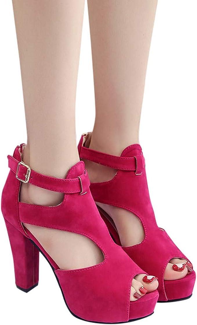 Rcool Zapatos de tacón zapatos de tacón alto mujer zapatos