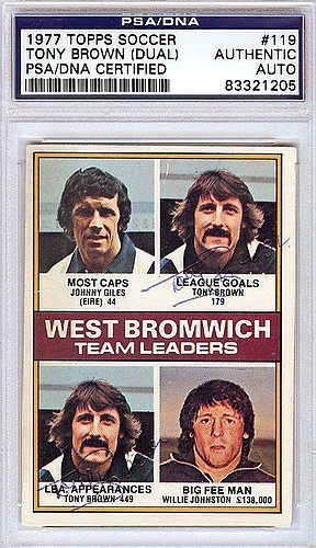 Tony Brown (Dual) Signed 1977 Topps Soccer Card - PSA/DNA Authentication - Sports Memorabilia