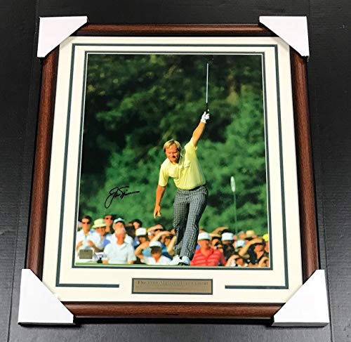 (JACK NICKLAUS 1986 MASTERS CHAMP SIGNED AUTOGRAPHED FRAMED 16X20 PHOTO FANATICS)