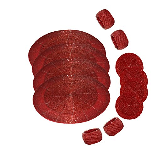 dakshcraft-4-beaded-round-ethnic-placemat-tablematdia-12-with-4-tea-cup-coasterdia-4-and-4-napkin-ri
