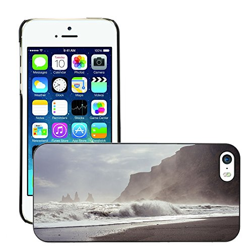 Stampato Modelli Hard plastica Custodie indietro Case Cover pelle protettiva Per // M00421740 Vagues de surf Shore Ocean Sea Beach // Apple iPhone 5 5S 5G