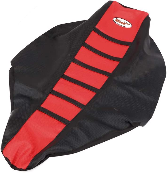 AnXin Red//Black Gripper Soft Motorcycle Seat Cover for Honda CRF450X 2005-2016