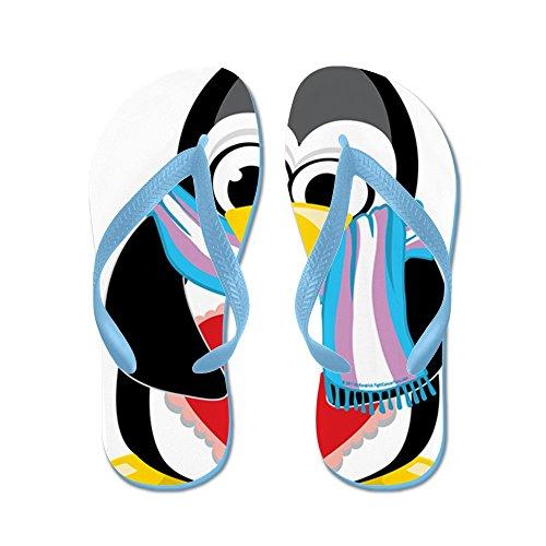 Cafepress Transgender-pinguino-sciarpa - Infradito, Divertenti Sandali Infradito, Sandali Da Spiaggia Blu Caraibico