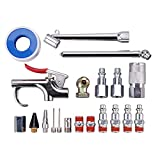 "WYNNsky Air Tool Accessory Kit, 1/4"" NPT Air Compressor Connect Coupler/ Plug with Storage Case /Blow Gun/ Tire Gauge ,20-Piece"