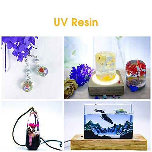 UV Resin Clear Hard Jewelry Molds Cure Ultraviolet (60g)