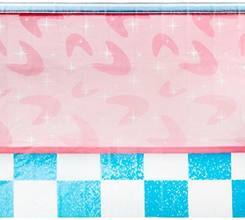 Beistle 52110 50's Soda Shop Backdrop, 4' x 30'