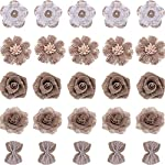 Tatuo-25-Pieces-Natural-Burlap-Flowers-with-Lace-Faux-Pearls-Burlap-Rose-Bow-Knot-for-Party-Decorations-Rustic-Wedding-Bouquets-Table-Centerpieces-Christmas-Decorations-5-Styles