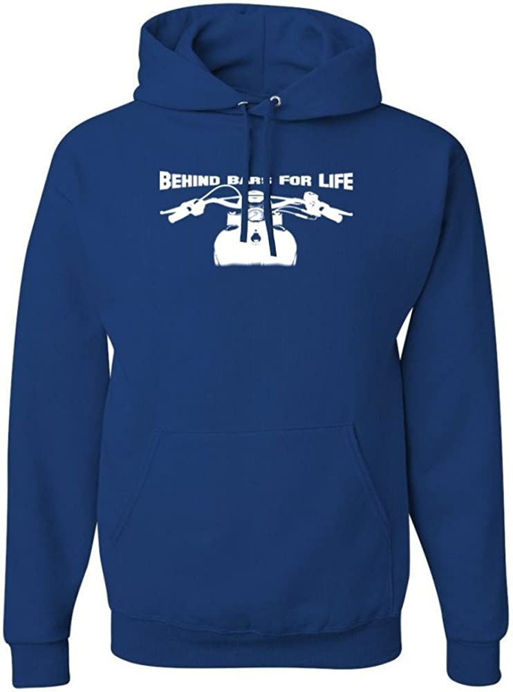 Small Blue Behind Bars for Life Mens Pullover Hoodies