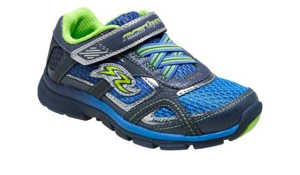a98ab4ee8c26 Stride Rite Boy s Racer Lights Lightning (Little Kid) Blue Green Sneaker 3  Little Kid XW  Amazon.ca  Shoes   Handbags