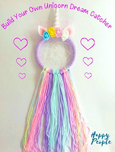 Make Your Own Unicorn Dream Catcher Kit, Rainbow, Kids Craft from HappyPeople