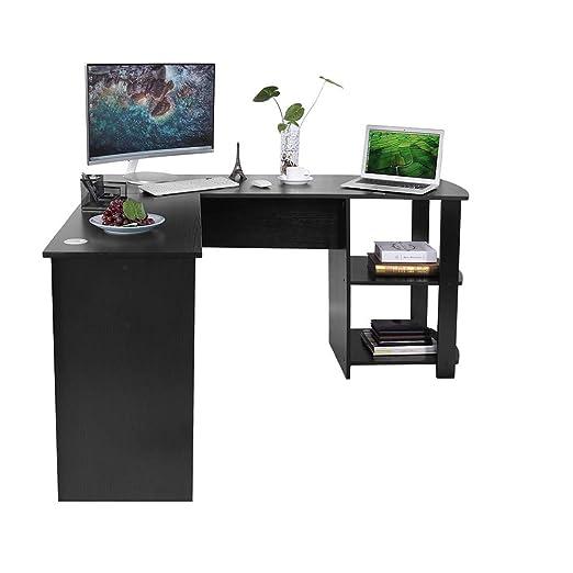 GOTOTOP Forma L Escritorio de Computadora de Oficina Mesa Enorme ...