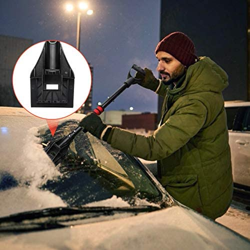Tvird 5-in-1 Snow Shovel Kit, 46'' Portable Snow Shovel +37''Ice Scraper, with Adjustable Handle&Reflective Strip, Aluminum Detachable Emergency Snow Removal Tool for Car, Camping, Garden, Outdoor