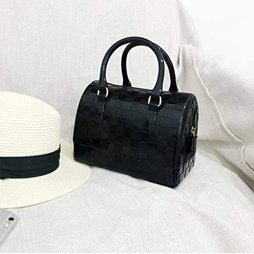 Sottile Di Black In Donna Borsa A Moda Da Tracolla Pvc YFCwFq