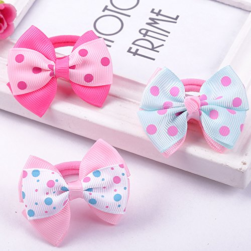 usongs Hong Jin cute bow childrens hair rope Korea-color cloth baby girl tie hair Tousheng headdress hair accessories
