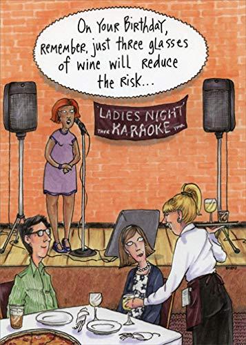 Oatmeal Dinner (Ladies Night Karaoke Oatmeal Studios Feminine Funny/Humorous Birthday Card for Her)