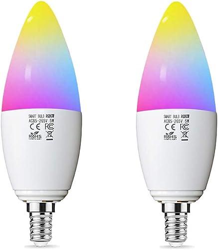 Smart Light E12 Alexa WiFi led Light Bulb Google nest Smart Bulb Smart Home Decoration 5W 45W 2pack
