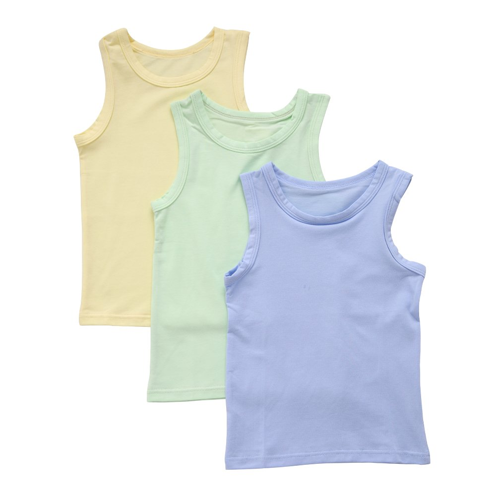 benetia Boys Cotton Tank Undershirts 3-Pack