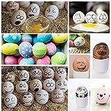 SallyFashion Wooden Fake Eggs 7 Pieces 3color