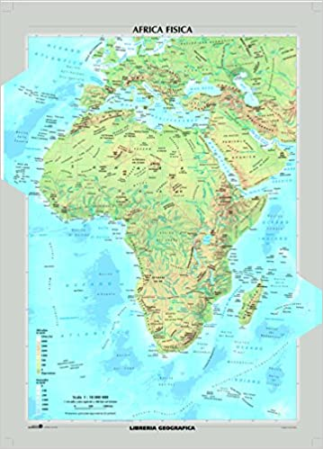 Africa Politica Cartina In Italiano.Amazon It Africa Fisica E Politica Carta Murale Libri