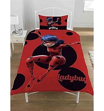 Miraculous Ladybug Parure Housse De Couette Simple Poche Housse De