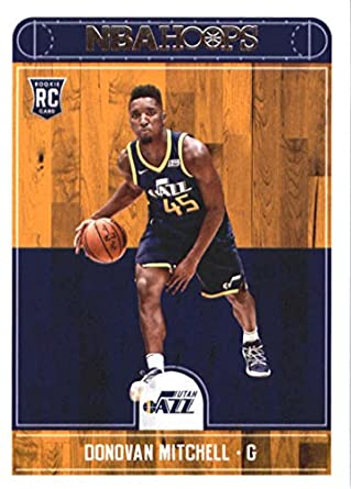 e6c987ecd 2017-18 Panini Hoops  263 Donovan Mitchell Utah Jazz Rookie Basketball Card