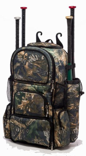 Tree Camouflage Chita II (L) Adult Softball Baseball Bat Equipment Backpack by MAXOPS