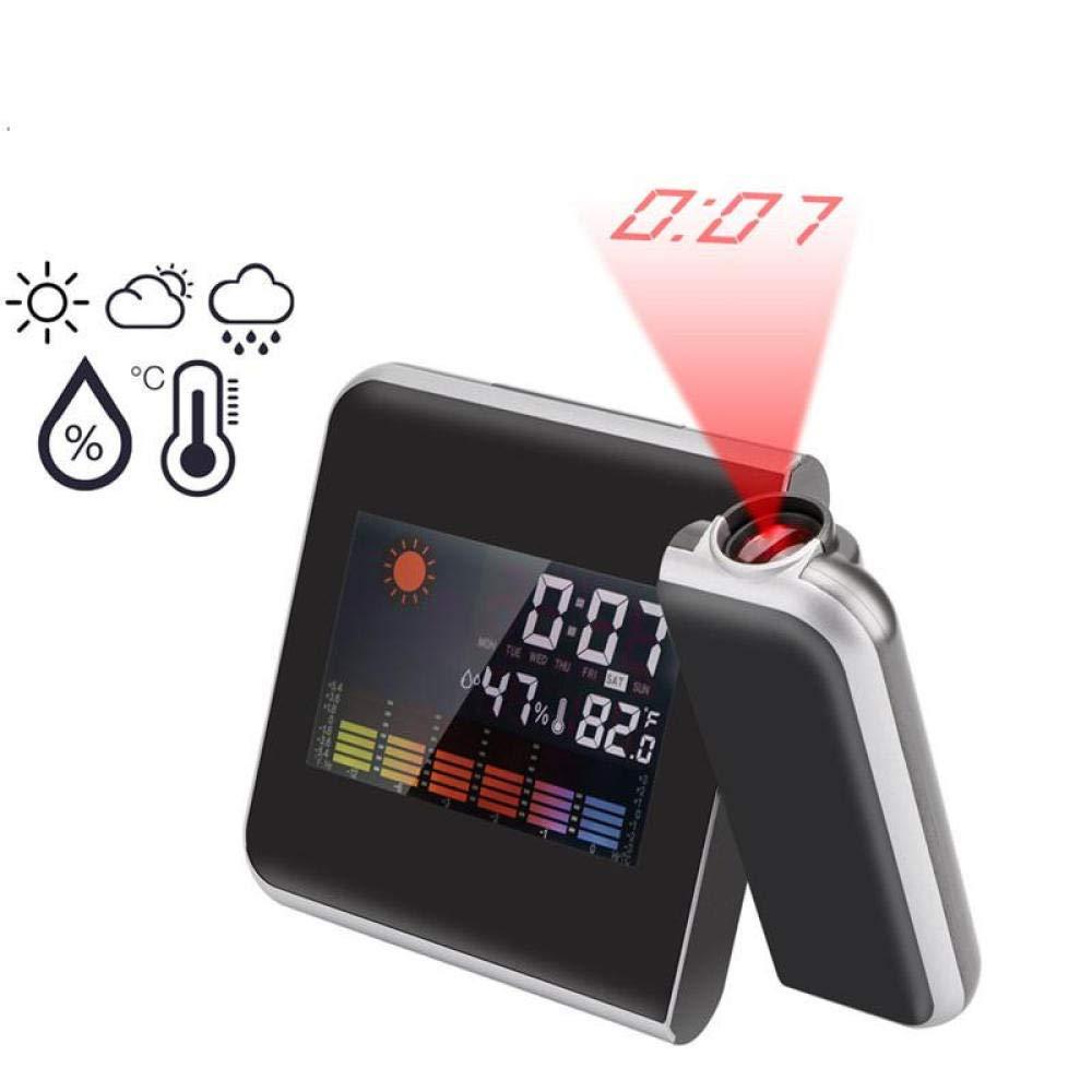Despertador Digital Radio Fm Color Led Retroiluminación Proyección ...