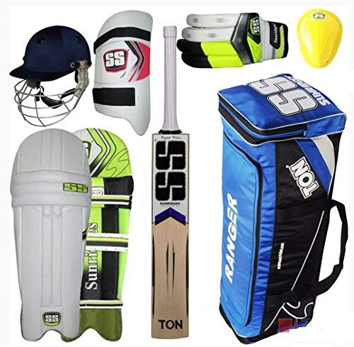 SS Mid Price Range Complete Batsman Cricket Kit Package with English Willow Bat with Fast DELIVERY