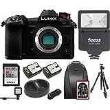 PANASONIC LUMIX G9 Mirrorless Camera Body w/Digital Slave Flash & 128GB Bundle