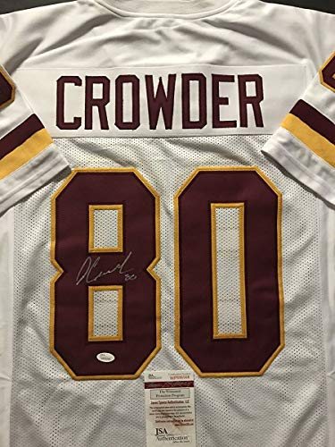 Autographed/Signed Jamison Crowder Washington White Football Jersey JSA -