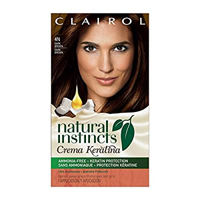 Clairol Natural Instincts Keratina Hair Color 6BZ Hazelnut Cream Kit