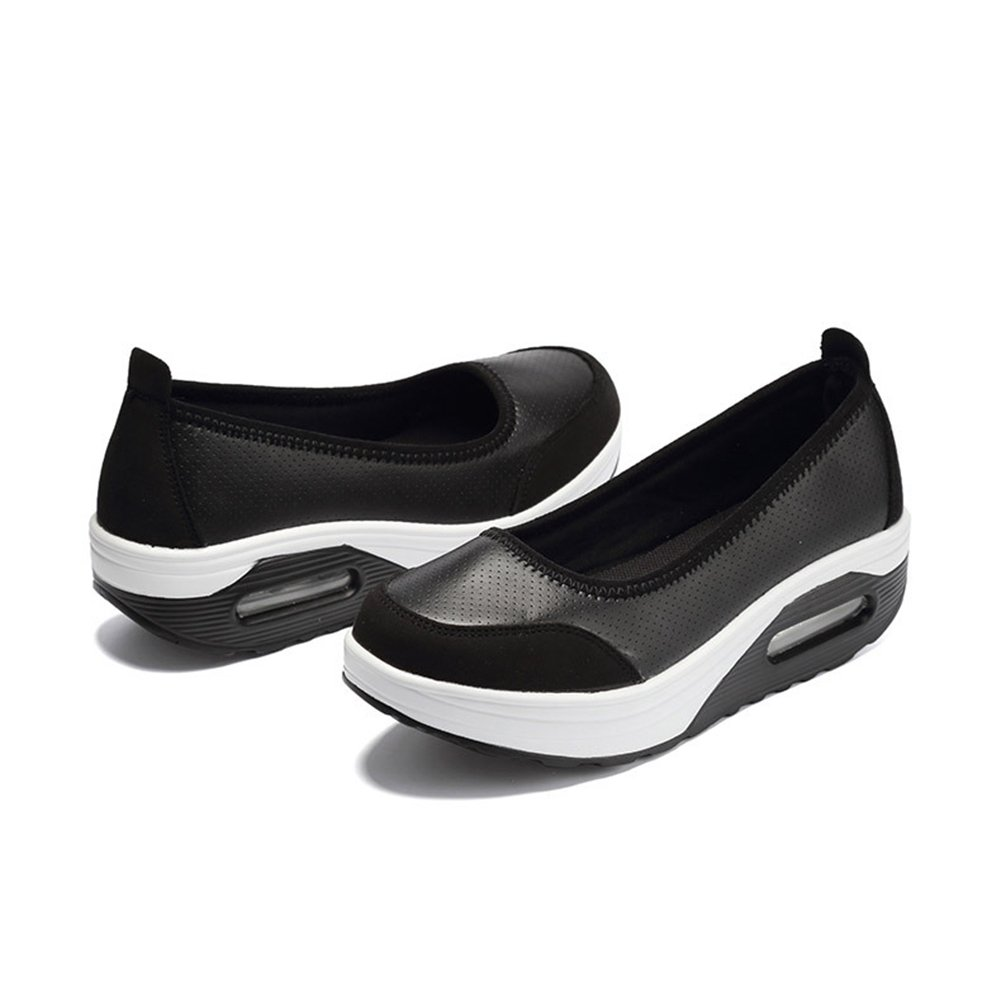 Amazon.com: Womens Casual Slip-On Breathable Air Mesh Platform Shoes Mesh And Suede Leather Fitness Shake Shoes Fitness Shake Shoes Height-increasing ...