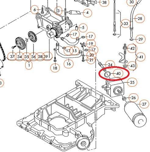 GTV INVESTMENT A4 B7 Guarnizione di raffreddamento olio 028117070B