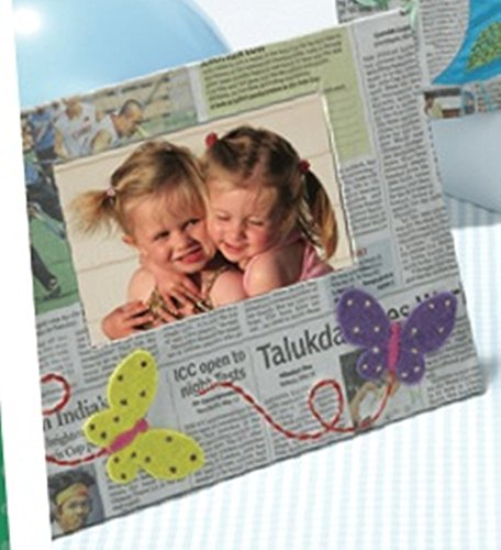 - Two's Company Recycled Newspaper Frame Choice of Styles, butterfly