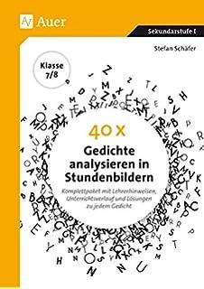 Gedichte für die 7. und 8. Klasse: Anregungen für die Praxis: Amazon ...