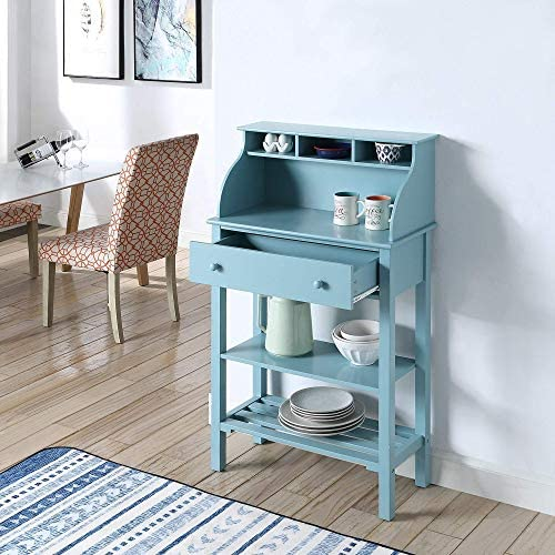 Convenience Concepts Designs2Go Office Kitchen Storage Desk, Sea Foam