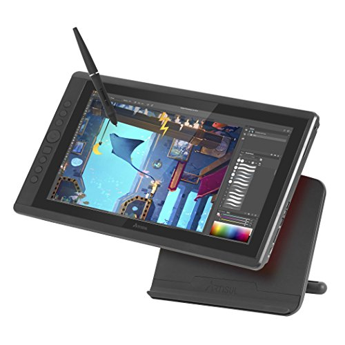 """Artisul D16-15.6"""" LCD Graphics Tablet with Display + Freestyle Stand Bundle - Full HD Drawing Display Monitor 8192 Pressure Sensitivity Stylus 7 Hotkeys & Scroll Dial"""