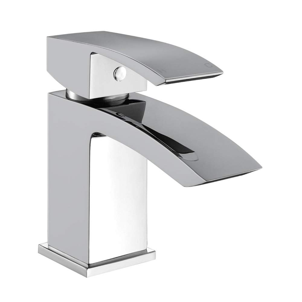 Faucetbasin Sink Mixer Tap Chrome Bathroom Faucet with Waste Plug