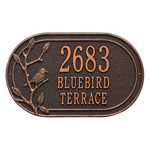 Customized Woodbridge Bird 3 Line Address Plaque (Address Plaque Three Line)