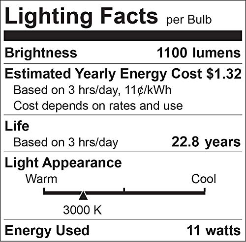 Luxrite A19 LED Bulb 75W Equivalent, 1100 Lumens, 3000K Warm White, Dimmable Standard LED Light Bulbs 11W, Enclosed Fixture Rated, Energy Star, E26 Medium Base - Indoor and Outdoor (6 Pack)