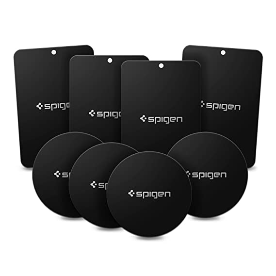 best loved 534b0 a233f Spigen Kuel A211 Metal Plates for Magnetic Car Mount Phone Holder QNMP  Compatible (8 Pack - 4 Round, 4 Rectangle) - Black